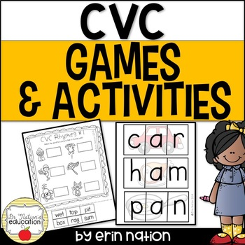 CVC Games and Activities {30 pages of CVC practice}