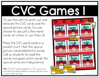 CVC Games and Partner Activities {Kindergarten Literacy: CVC Words}