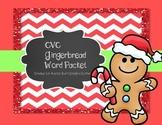 CVC Ginger Bread Themed Worksheets