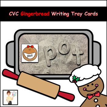CVC Gingerbread Writing Tray Cards