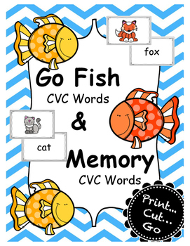 CVC Go Fish and Memory Game