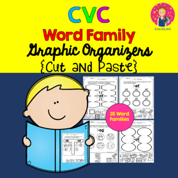 CVC Organizers for Kindergarten and First Grade {Cut and Paste}