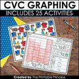 CVC Graphing {Kindergarten Literacy: CVC Words}