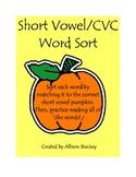 CVC Halloween Word Sort FREEBIE