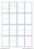 CVC Handwriting Bingo Animal Game