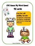CVC Headbands Game -  Fun Pragmatic and Receptive Language Skills