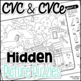 CVC & CVCe Hidden Picture Puzzles