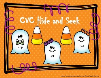 CVC Hide and Seek Halloween word work
