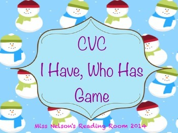 CVC I Have Who Has Game Winter Theme