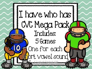 CVC I Have Who Has Mega Pack *Football Theme*