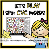 CVC 'I Spy' Word Mats