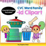 CVC -ID Family Clip Art (Short i)
