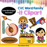 CVC -IT Word Family Clip Art (Short I)