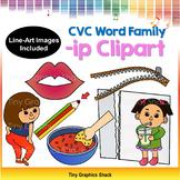 CVC -IP Family Clip Art (Short i)