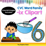 CVC -IX Word Family Clip Art (Short I)