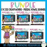 CVC Icecream Short Vowel Boom Card™ BUNDLE - Digital Task Cards