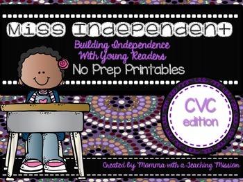 CVC Independent No Prep Printables