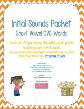 CVC Initial Sound Isolation - Short Vowel Words