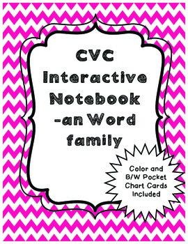 CVC Interactive Notebook Activities -an Word Family