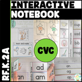 CVC Word Family Interactive Notebook Kindergarten Recognizing Rhyme {RF.K.2a}