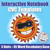 CVC Word Interactive Notebook Template Bundle