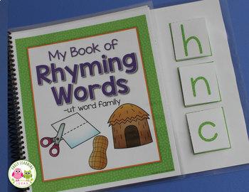 Rhyming Activities | Beginning Sound Activities | Interactive Word Family Books