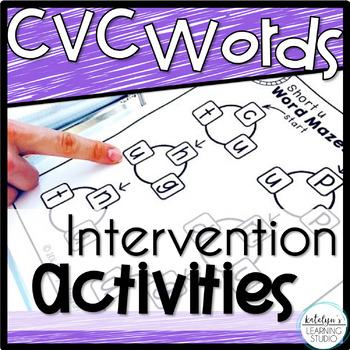 Reading CVC Words Intervention Binder