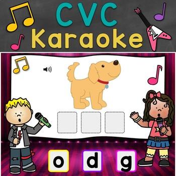 CVC Karaoke - CVC Words Scramble Digital Task Cards (Boom Cards)