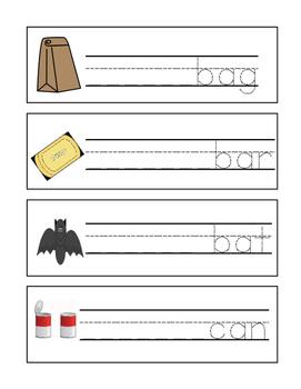 CVC Kindergarten Read and Write Cards- Short A