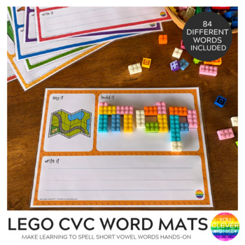 CVC Word 'Say It, Build It, Write It' Mats