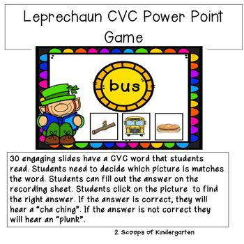 CVC Leprechaun Power Point Game