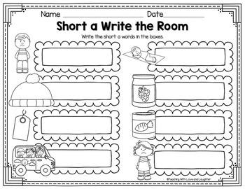 CVC Word Write the Room