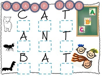 CVC Letter Stamping Worksheets