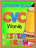 LISTEN AND DRAW CVC Words Listening Comprehension