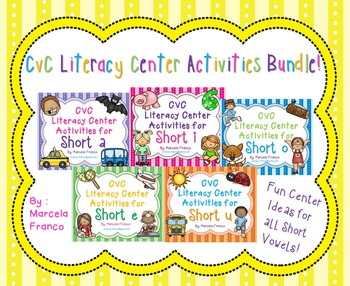 Short Vowels Literacy Center Activities