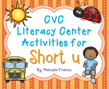 Short u CVC Literacy Center Activities