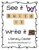 CVC Literacy Center- See it, Build It, Write it! Complete Set