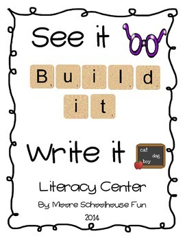 CVC Literacy Center- See it, Build It, Write it! Complete Set