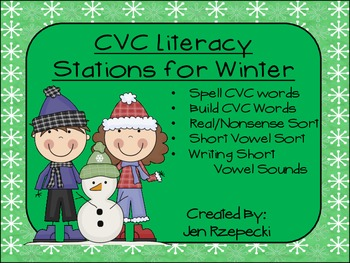 CVC Literacy Stations for Winter