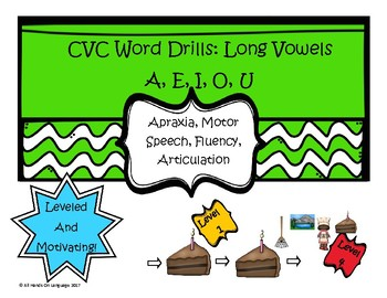 CVC Long Vowel Drills for Apraxia