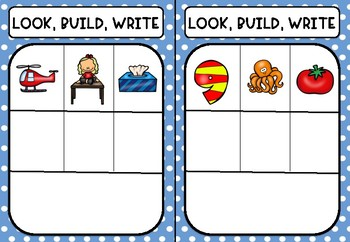 CVC Look, Build, Write /o/ Word Families