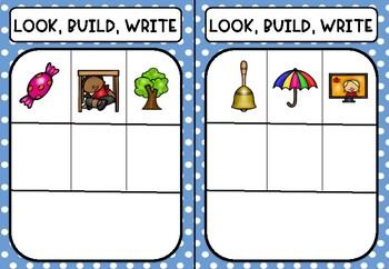 CVC Look, Build, Write /u/ word families