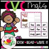 CVC Look, Read, Write-It Mats