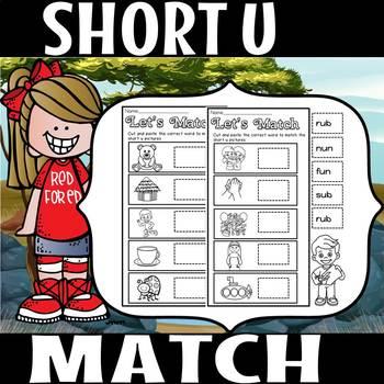 CVC MATCH THE WORD- SHORT U