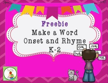 CVC Make a Word Onset and Rhymes
