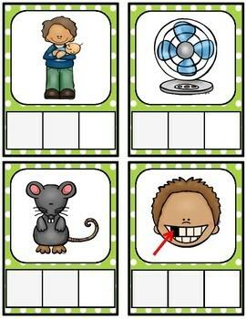 CVC Word Center {Make and Write Cards}
