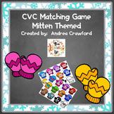 CVC Match Game:  Mitten Themed