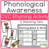 CVC Match and Write Rhyming Activity