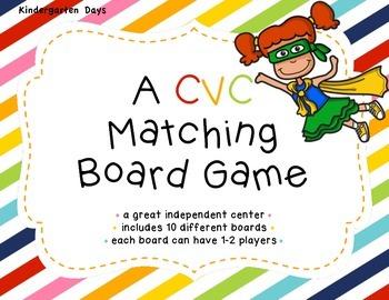 CVC Matching Board Game