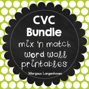 CVC Matching Flip Booklet Bundle